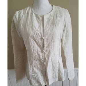 Eileen Fisher Women Cream Blazer Size S